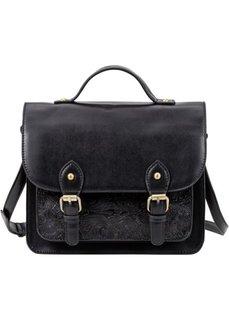 Сумка-портфель с ремнем через плечо (черный) Bonprix