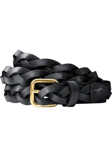 Плетеный кожаный ремень (черный) Bonprix
