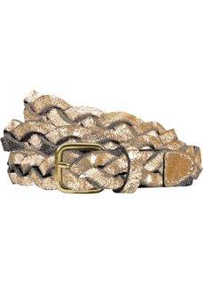 Плетеный кожаный ремень (золотистый металлик) Bonprix