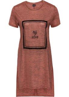 Блестящая футболка с принтом (ревень/черный с рисунком) Bonprix