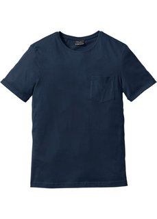 Футболка Slim Fit (темно-синий) Bonprix