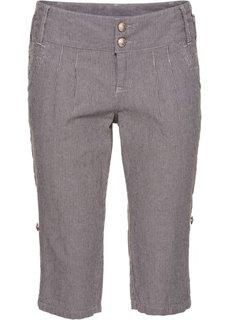 Полосатые шорты (темно-серый/светло-серый в полоску) Bonprix