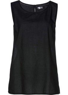 Блузка-топ (черный) Bonprix