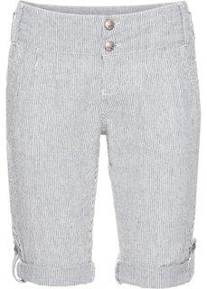 Полосатые шорты (синий/кремовый в полоску) Bonprix