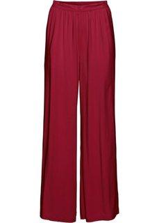 Широкие брюки (темно-красный) Bonprix