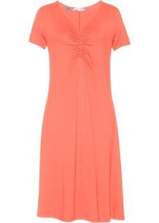 Платье с коротким рукавом (лососевый) Bonprix
