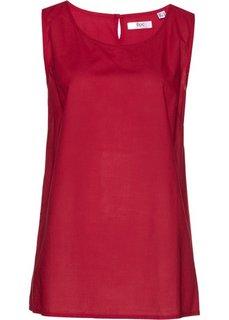 Блузка-топ (темно-красный) Bonprix