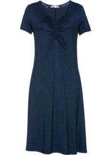 Платье с коротким рукавом (темно-синий) Bonprix