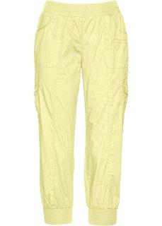 Эластичные брюки карго длиной 3/4 (лимонный) Bonprix