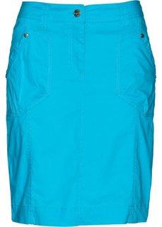 Юбка-стретч в стиле карго (синий) Bonprix