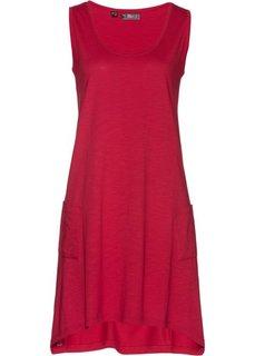 Трикотажное платье из пряжи фламе (темно-красный) Bonprix