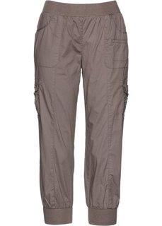 Эластичные брюки карго длиной 3/4 (светло-коричневый) Bonprix