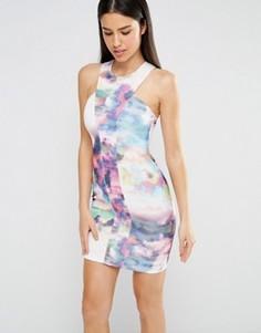 Облегающее платье с горловиной‑халтер Twin Sister - Мульти