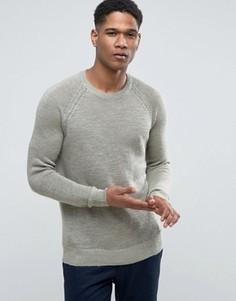 Джемпер с рукавами реглан из 100% льна Esprit - Зеленый