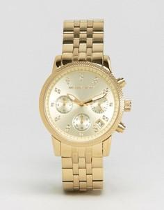 Часы с хронографом Michael Kors Ritz Glitz MK5676 - Золотой