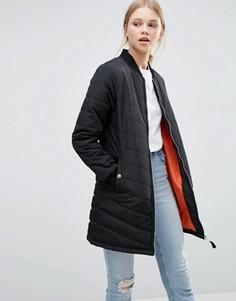 Удлиненная стеганая куртка‑пилот Brave Soul - Черный