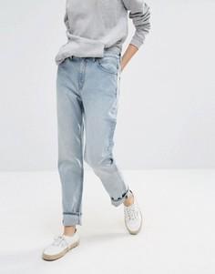 Джинсы в винтажном стиле с завышенной талией Weekday Seattle - Синий