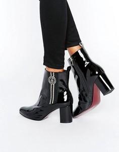 Полусапожки на каблуке с эластичными вставками Tommy Hilfiger Gigi Hadid - Черный