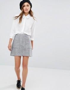 Юбка-трапеция с карманами New Look - Серый