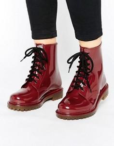 Резиновые ботинки на шнуровке Park Lane - Красный