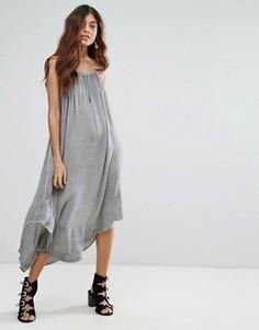 Платье макси с драпировкой NYTT - Серый