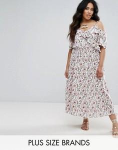 Платье с оборками и асимметричным краем Diya Plus - Мульти