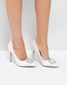 Атласные туфли-лодочки с отделкой True Decadence - Белый