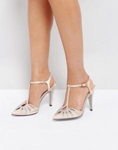 Туфли на каблуке с T-образным ремешком True Decadence - Золотой