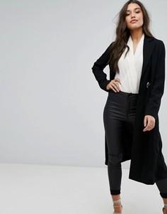 Пальто с поясом на завязке Supertrash - Черный