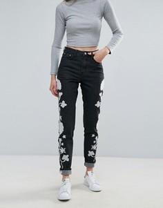 Джинсы с вышивкой Glamorous - Черный