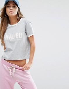 Трикотажная футболка с принтом Malibu Juicy By Juicy Couture - Серый