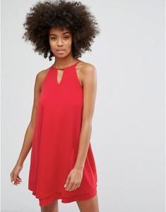 Платье с завязкой на шее Only - Красный