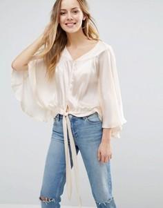 Блузка с поясом Jasmine - Кремовый