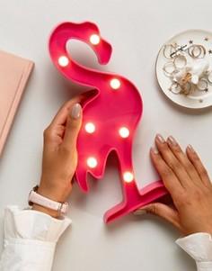 Светильник в форме фламинго New Look - Розовый