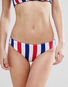Двусторонние плавки-бикини с принтом в полоску Bikini Lab - Мульти
