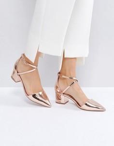 Золотистые туфли на каблуке Miss KG Ava Rose - Золотой