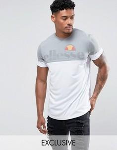 Компрессионная футболка с контрастной вставкой Ellesse Sport - Серый