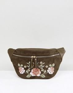 Фестивальная сумка-кошелек на пояс с вышивкой New Look - Зеленый