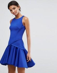 Платье с баской Coast Crysta - Синий