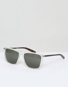 Квадратные солнцезащитные очки в прозрачной оправе AJ Morgan - Прозрачный