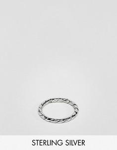 Серебряное кольцо с перекрученным дизайном DesignB эксклюзивно для ASOS - Серебряный