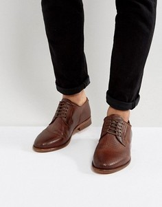 Кожаные туфли Walk London Harrington - Коричневый