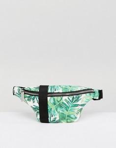 Сумка-кошелек на пояс с пальмовым принтом Skinnydip - Зеленый