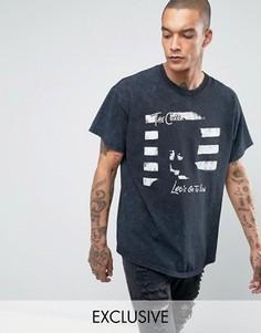 Черная oversize-футболка с принтом The Cure Reclaimed Vintage Inspired - Черный