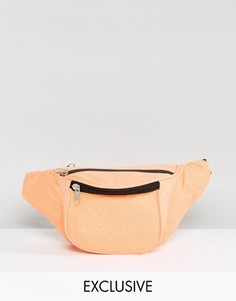 Оранжевая сумка-кошелек на пояс Reclaimed Vintage Inspired - Оранжевый