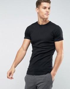 Базовая обтягивающая футболка Lindbergh - Черный