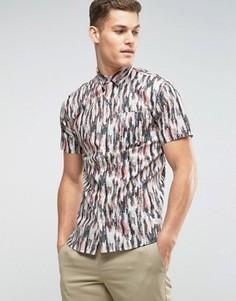 Рубашка с короткими рукавами и принтом перьев Lindbergh - Розовый