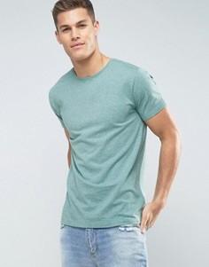 Эластичная футболка с круглым вырезом Lindbergh - Зеленый