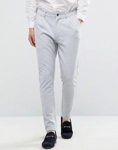 Трикотажные зауженные брюки Jack & Jones Premium - Серый