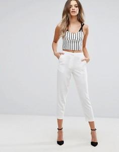 Строгие брюки Boohoo - Белый